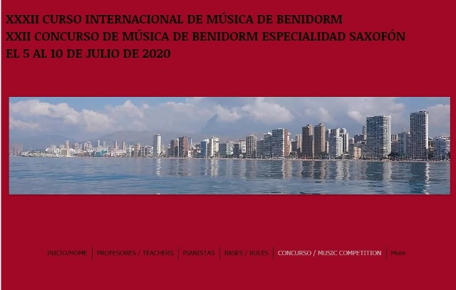 XXXII Curso internacional de música de Benidorm (CIMB)