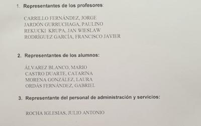 Proclamación de candidatos electos al consejo escolar