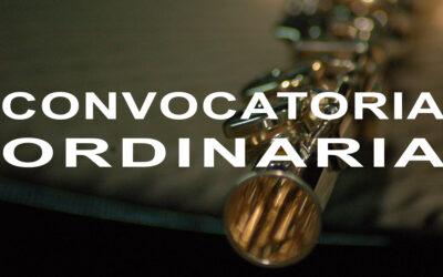 Publicación definitiva del calendario y las comisiones de evaluación de la convocatoria ordinaria. Curso 2020-21